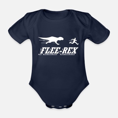 Flee Flee Rex - Organic Short-Sleeved Baby Bodysuit