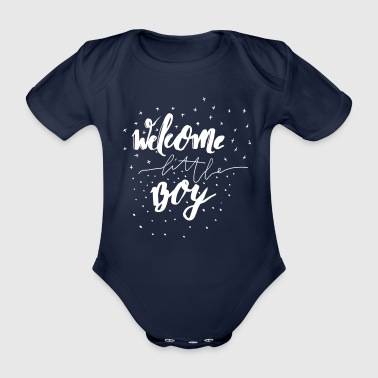 Welcome little boy - Organic Short-sleeved Baby Bodysuit