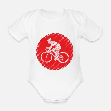 Ride Bike Bike ride bike ride - Organic Short-Sleeved Baby Bodysuit