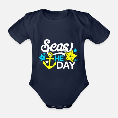 Sea sea - Organic Short-Sleeved Baby Bodysuit