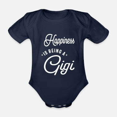 Parents Happiness is being a Gigi Cute Womens - Organic Short-Sleeved Baby Bodysuit