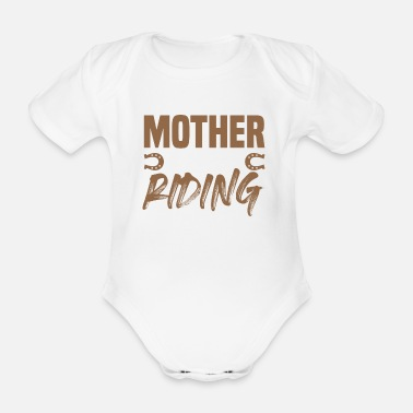 Mare Horses Mom Son - Organic Short-Sleeved Baby Bodysuit