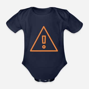 Streaker Warning - Organic Short-sleeved Baby Bodysuit