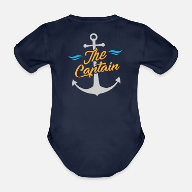 Zeilboot Sailor / Sailor - The Captain & Anchor - Baby bio-rompertje met korte mouwen