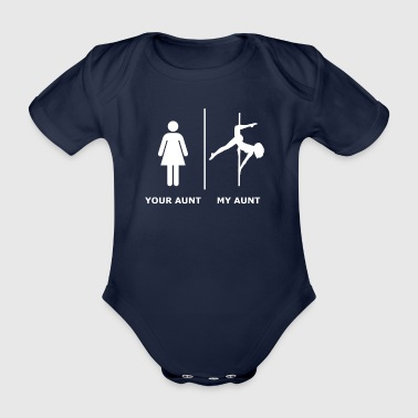 Your Aunt I My Aunt, white - Organic Short-sleeved Baby Bodysuit