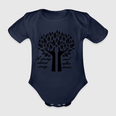 A strong soul shines after ... - Organic Short-sleeved Baby Bodysuit