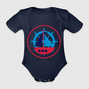 little boat - Organic Short-sleeved Baby Bodysuit