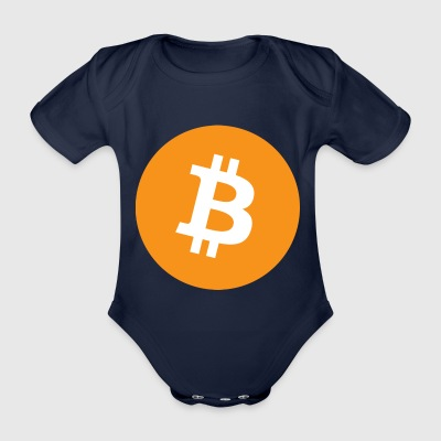 bitcoin logo - Organic Short-sleeved Baby Bodysuit