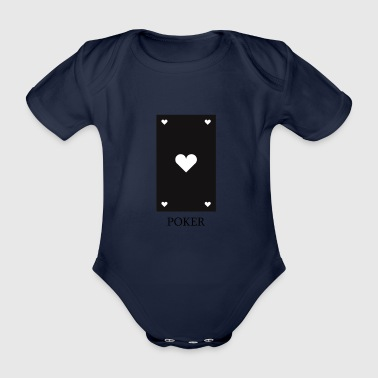 poker card - Organic Short-sleeved Baby Bodysuit