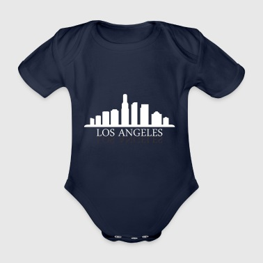 Los Angeles skyline - Økologisk kortermet baby-body