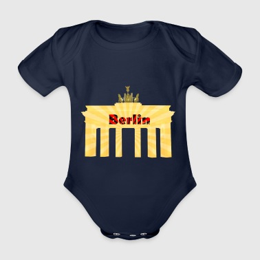 Berlin - Brandenburger Tor - Baby Bio-Kurzarm-Body