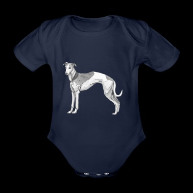whippet - Organic Short-sleeved Baby Bodysuit