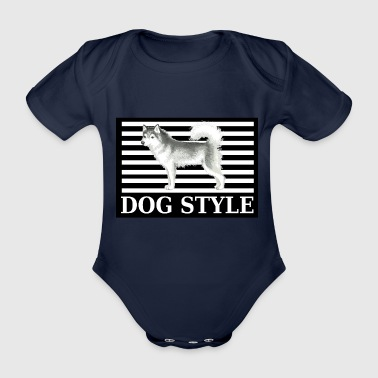 Dog Style Husky - Organic Short-sleeved Baby Bodysuit