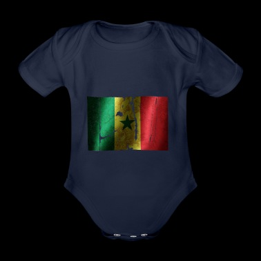 Senegal Flagge cooler Vintage used Sport Look - Baby Bio-Kurzarm-Body
