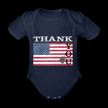 Thank you America - Baby Bio-Kurzarm-Body