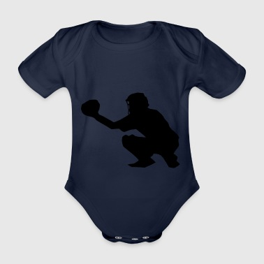 Catcher Baseball Softball Sport - Baby Bio-Kurzarm-Body
