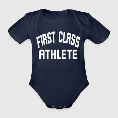 First Class Athlete - Baby bio-rompertje met korte mouwen