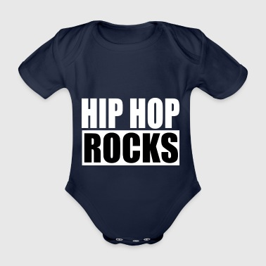 Hip Hop Rocks - Organic Short-sleeved Baby Bodysuit