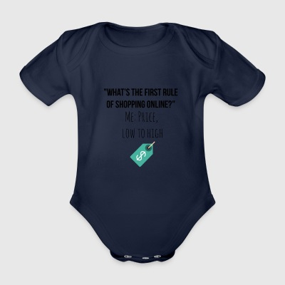 First rule of shopping online - Organic Short-sleeved Baby Bodysuit