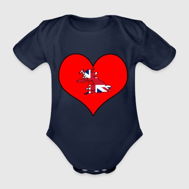 Love Land Europa EU England UK GB - Baby Bio-Kurzarm-Body