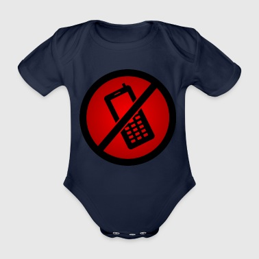 Forbidden phone :) - Organic Short-sleeved Baby Bodysuit