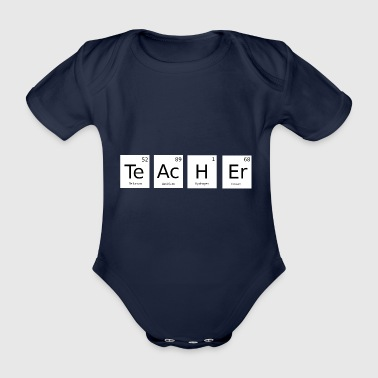 Teacher periodic table gift - Organic Short-sleeved Baby Bodysuit