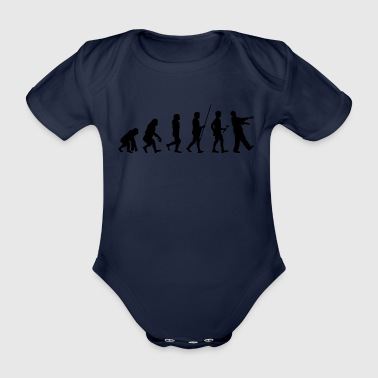 Evolution to the Zombie T-Shirt Gift - Organic Short-sleeved Baby Bodysuit
