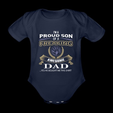 ++ Proud son of a awesome dad ++ gift son child - Organic Short-sleeved Baby Bodysuit