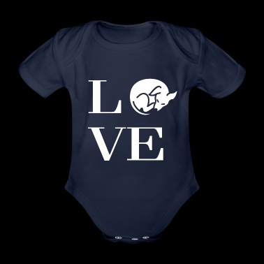 dog - Organic Short-sleeved Baby Bodysuit