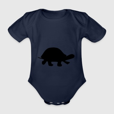 Turtle Silhouette - Organic Short-sleeved Baby Bodysuit