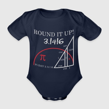 Pi Day 3.1416 - Organic Short-sleeved Baby Bodysuit
