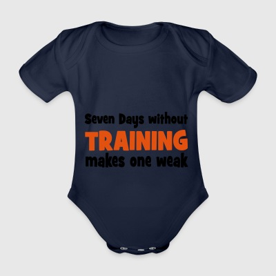 2541614 15607399 training - Organic Short-sleeved Baby Bodysuit