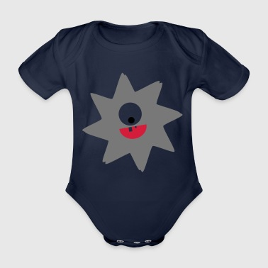 Virus lachend Stern Kinder Geschenk Cartoon - Baby Bio-Kurzarm-Body