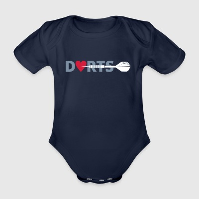 DARTS right in the heart - Organic Short-sleeved Baby Bodysuit