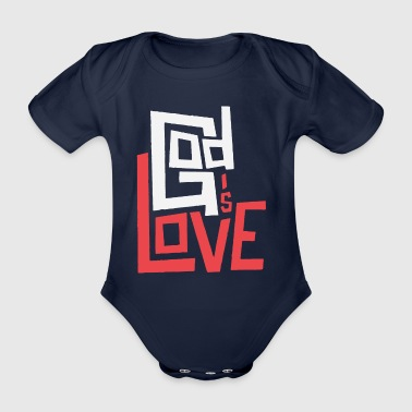 God is Love - Organic Short-sleeved Baby Bodysuit