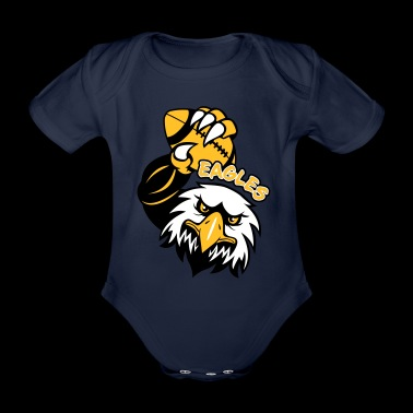 Eagles Rugby - Organic Short-sleeved Baby Bodysuit