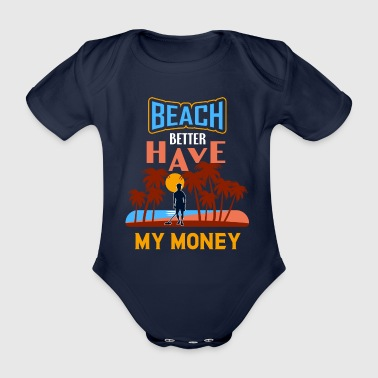 Beach Money Metal Detector Gift Treasure Hunter - Ekologisk kortärmad babybody