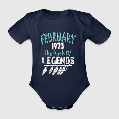 February 1973 The Birth Of Legends - Organic Short-sleeved Baby Bodysuit