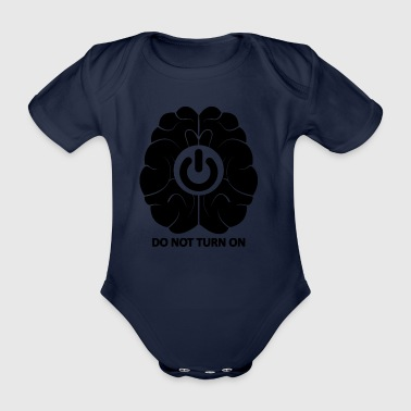 Brainoff blak - Organic Short-sleeved Baby Bodysuit