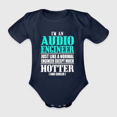 AUDIO ENGINEER - Organic Short-sleeved Baby Bodysuit