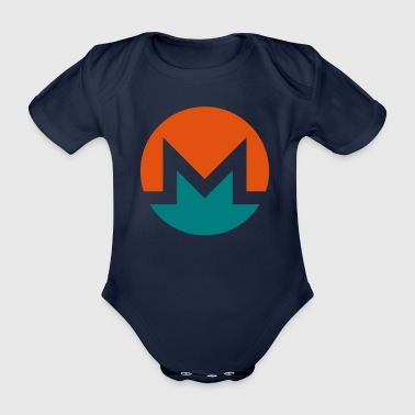 Monero Logo Circle - Organic Short-sleeved Baby Bodysuit