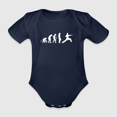 Karate Punch - Organic Short-sleeved Baby Bodysuit