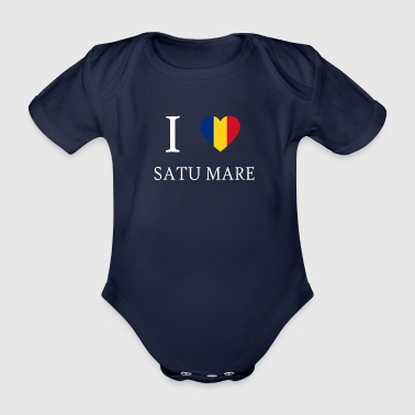 Love Romania SATU MARE - Organic Short-sleeved Baby Bodysuit