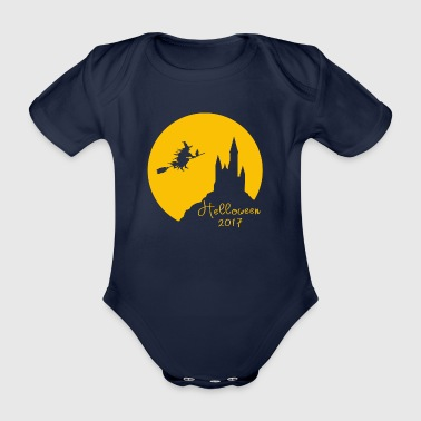 Helloween 2017 Party - Organic Short-sleeved Baby Bodysuit