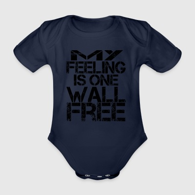 My feeling is one wall free - Organic Short-sleeved Baby Bodysuit
