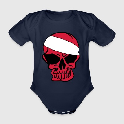 Anarcho Skull Anarchy anarchy - Organic Short-sleeved Baby Bodysuit