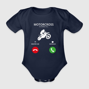 Appel Appel mobile moto motard moto-cross - Body bébé bio manches courtes