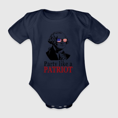 Feiern wie ein Patriot! USA Shirt Patrioten Shir - Baby Bio-Kurzarm-Body
