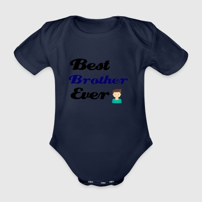 Best Brother Ever - Organic Short-sleeved Baby Bodysuit