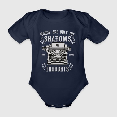 Shadows Of Thoughts2 - Organic Short-sleeved Baby Bodysuit